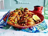 Asia-Spaghetti mit Rühreistreifen Rezept
