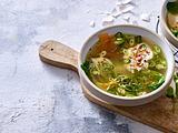Asia-Suppe mit pochiertem Ei Rezept