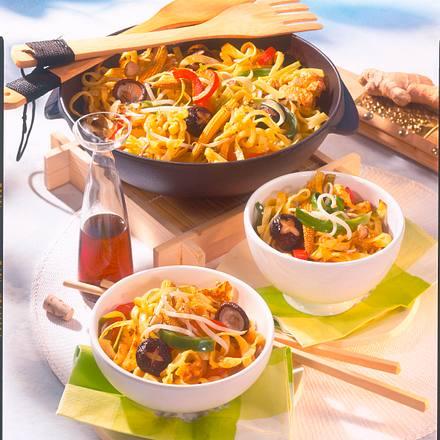Asiatische Bratnudeln mit Gemüse Rezept