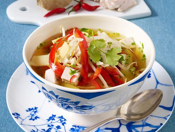 Asiatische Curry-Geflügelsuppe Rezept