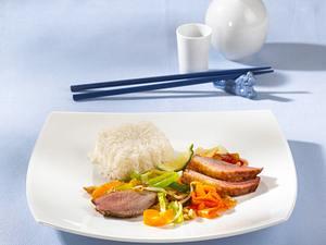 Asiatische Entenbrustpfanne Rezept