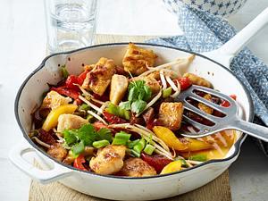 Asiatische Fisch-Paprika-Pfanne Rezept