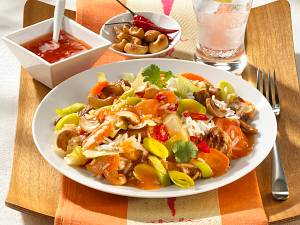Asiatische Gemüse-Fleischpfanne Rezept
