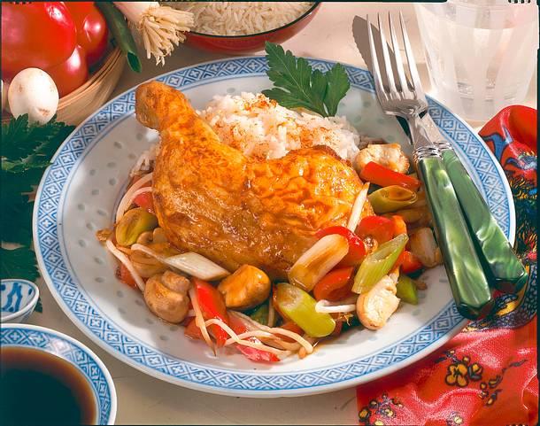 Asiatische Hähnchenkeule Rezept