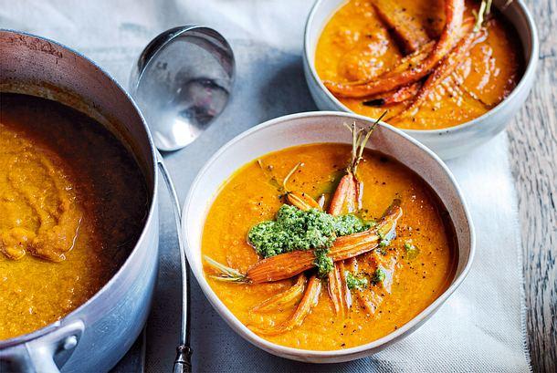 Asiatische Möhren-Paprika-Suppe Rezept