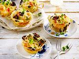 Asiatische Nudel-Muffins Rezept
