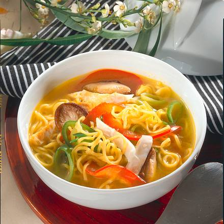 Asiatische Nudelsuppe Rezept