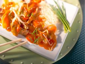 Asiatische Pfanne, süß-sauer Rezept