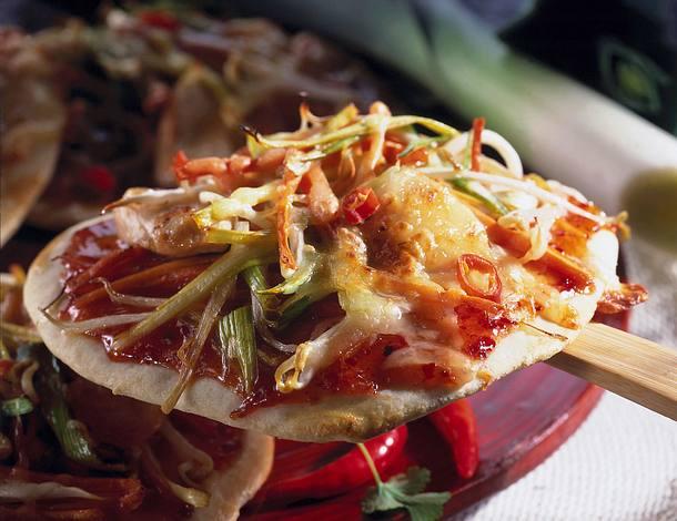 Asiatische Pizza Rezept