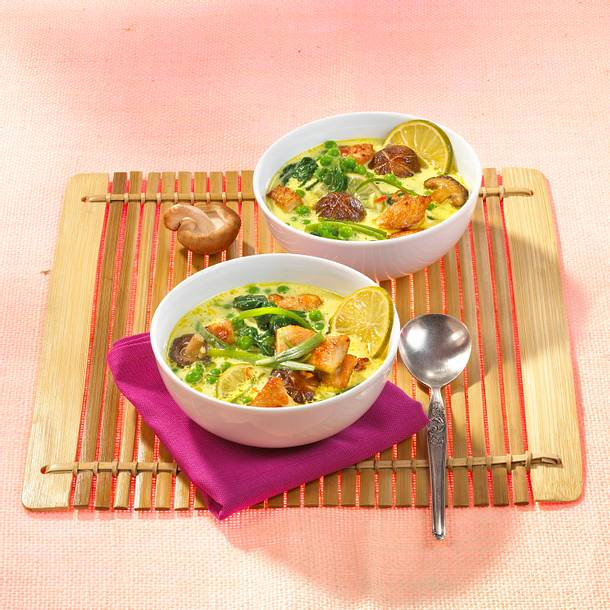 Asiatische Puten-Kokos-Suppe Rezept