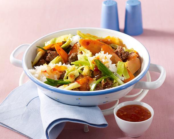 Asiatische Spitzkohlpfanne Rezept