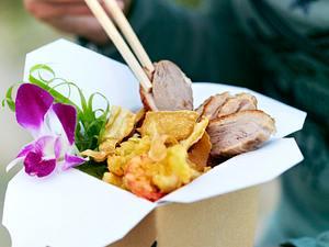 Asiatisches Gemüse mit Gambas und Entenbrust Rezept