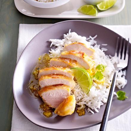 Asiatisches Hähnchen mit Basmati-Reis Rezept