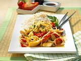 Asiatisches Reisgericht mit Hähnchenfilet Rezept