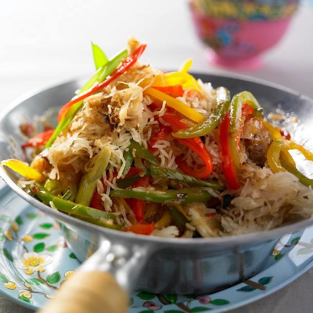Asiatisches Sauerkraut mit Bratreis Rezept