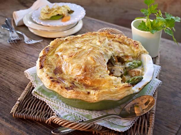 Asparagus and Chicken Pie Rezept