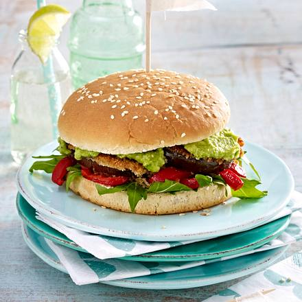 Auberginen-Burger Rezept