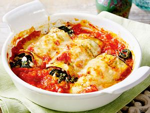 Auberginen-Cannelloni mit Spinatfüllung Rezept