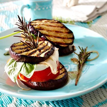 Auberginen-Mozzarella-Türmchen Rezept
