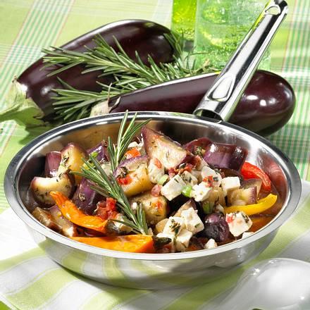 Auberginen-Paprika-Pfanne Rezept
