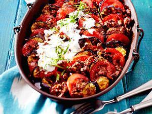 Auberginen-Tomaten-Auflauf mit Beefhack-F8622001
