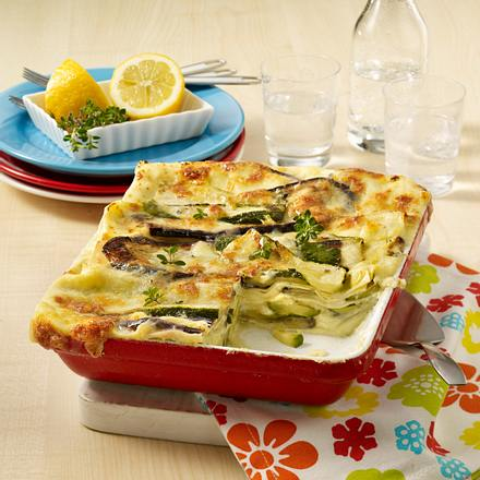 Auberginen-Zucchini-Lasagne Rezept