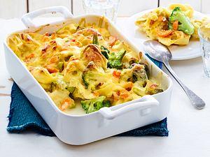 Auflauf mit Tortelloni und Brokkoli Rezept
