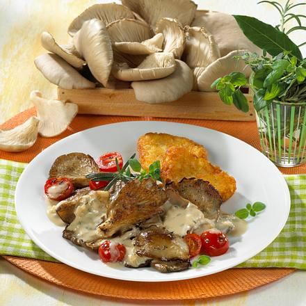 Austernpilz-Ragout zu Rösti  Rezept