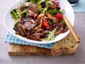 Austernpilz-Salat mit zwei Sorten Balsamico Rezept