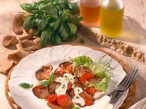 Austernpilze mit Basilikum-Creme Rezept