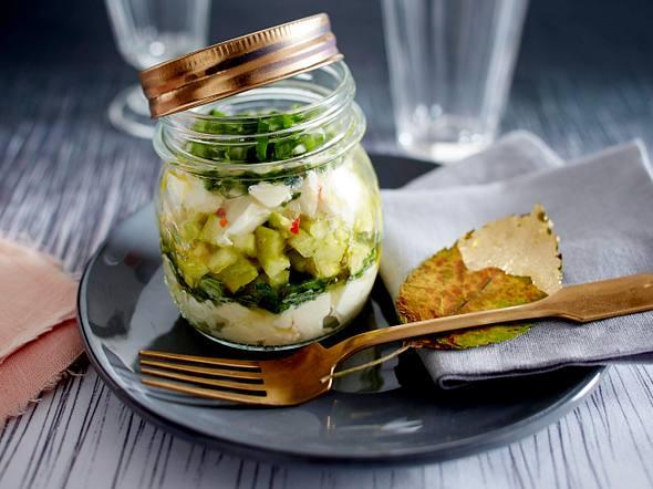 Avocado-Apfel-Tatar mit Mozzarella Rezept
