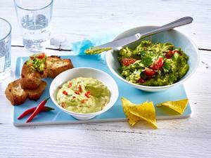 Avocado-Chili-Aioli und Guacamole mit Tomate Rezept