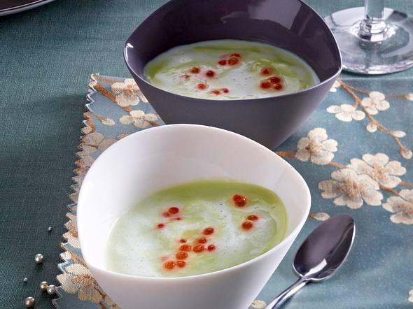 Avocado-Cremesuppe mit Lachsrogen Rezept