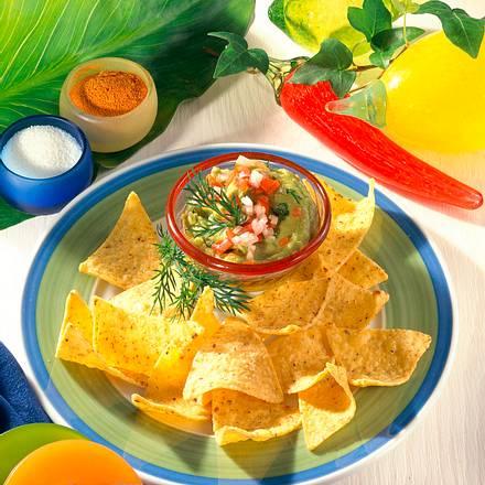 Avocado-Dip und Tortilla-Chips Rezept