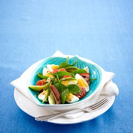 Avocado-Eier-Salat mit Knusperspeck Rezept