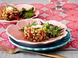 Avocado-Garnelen-Türmchen mit Knoblauchcreme Rezept