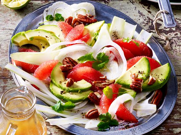 Avocado-Grapefruit-Fenchel-Salat Rezept