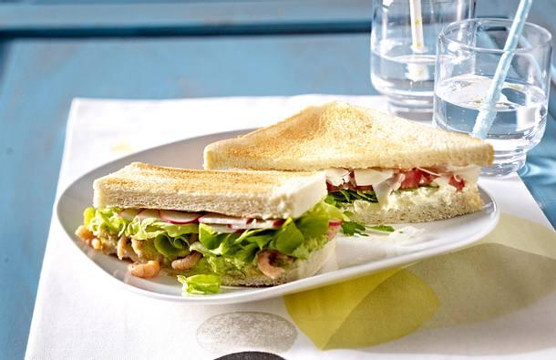 Avocado-Krabben-Sandwich Rezept