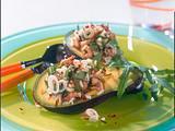 Avocado mit Reis-Krabbensalat Rezept