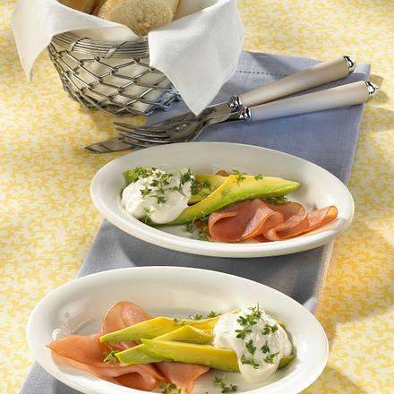 Avocado mit Schinken & Kressecreme Rezept