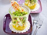 Avocado-Mozzarella-Mango-Salat mit Hähnchenspieß (Das perfekte Dinner) Rezept