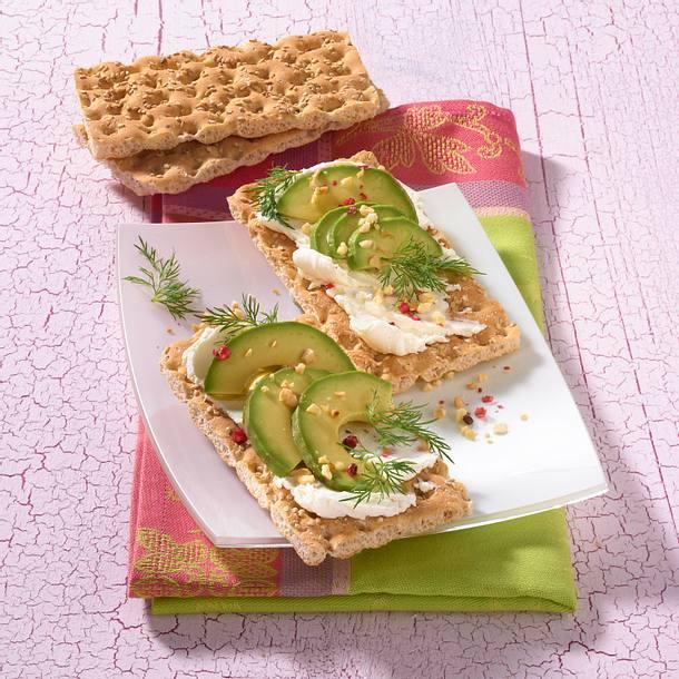 Avocado-Schnitten mit Frischkäse (Diät) Rezept