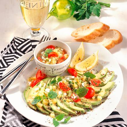 avocado mit kartoffel vinaigrette rezept chefkoch rezepte auf kochen backen und. Black Bedroom Furniture Sets. Home Design Ideas