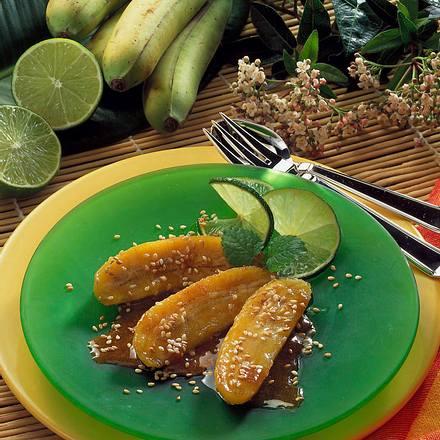 Baby-Banane in Honig-Karamell Rezept