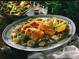 Backfisch mit Béchamel-Kartoffeln Rezept