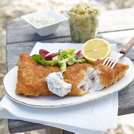 Backfisch mit Kartoffelsalat Rezept