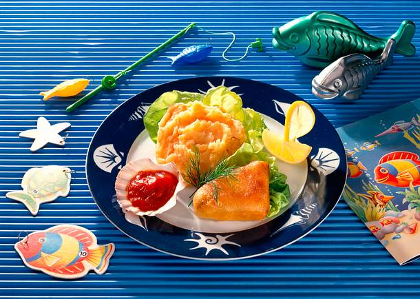 Backfisch mit Möhren-Kartoffel-Püree Rezept