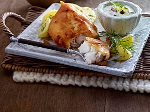 Backfisch mit selbstgemachter Remoulade Rezept