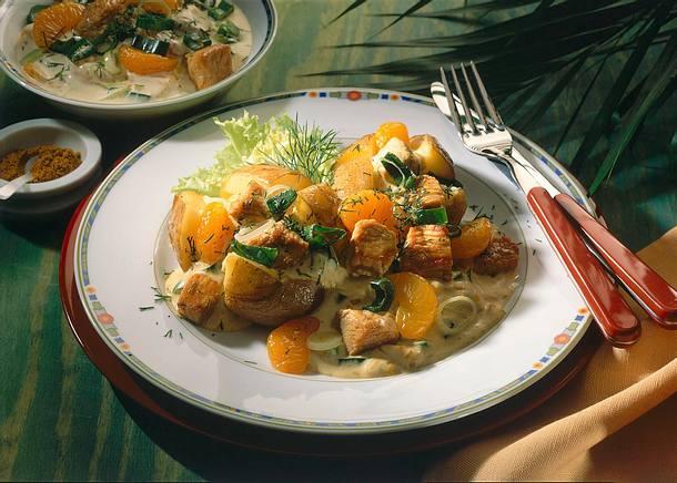 Backkartoffel mit Geflügelragout Rezept