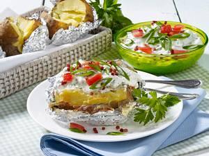 Backkartoffel mit Schinken-Kräuterquark Rezept